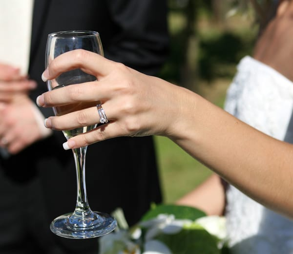 Service coupe Champagne Mariage